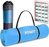 POWRX Gymnastikmatte Premium inkl. Trageband + Tasche + Übungsposter GRATIS I Hautfreundliche Fitnessmatte TÜV Süd bestätigt Phthalatfrei 190 x 60, 80 oder 100 x 1.5 cm I versch. Farben Yogamatte